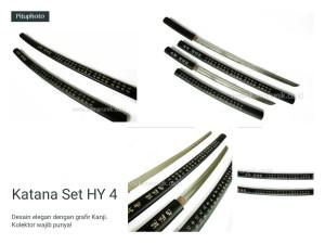 harga PEDANG SAMURAI KATANA HY-4/SHIRASAYA BLACK KANJI Tokopedia.com