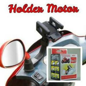 Holder HP dan GPS Universal di stang atau spion Sepeda / Motor FLY