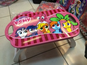 Meja Belajar Kayu Lipat My Little Pony