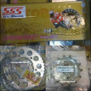 harga SSS Gir Set Kawasaki Ninja 250 RR Mono / Z250SL Tokopedia.com
