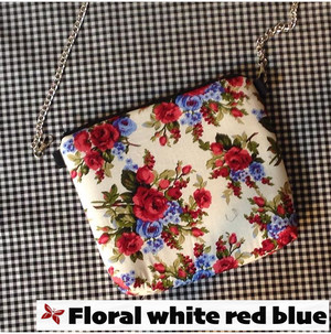 Kode Floral White Red Blue