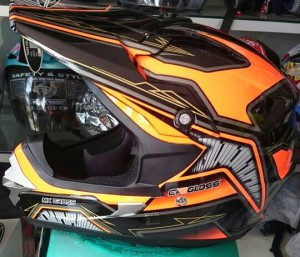 Helm Cargloss MX Cross Orange