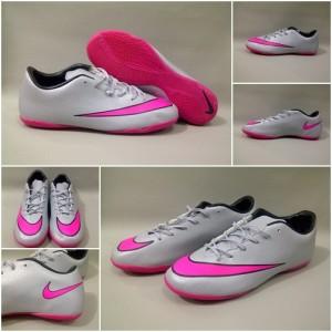 Sepatu Futsal Nike Mercurial Victory V IC - Wolf Grey/Hyper Pink-Black