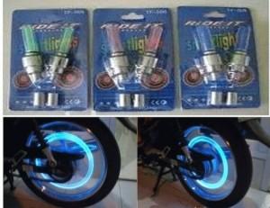 tutup pentil roda ban lampu led (sepeda, motor, mobil modifikasi unik)