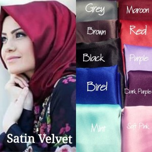 Kode hijab satin velvet