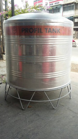 Tangki air stainless PROFIL TANK PS 2500 kaki / toren / tandon /