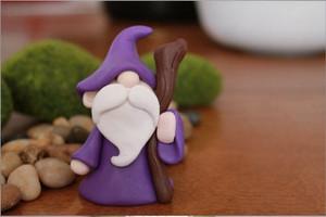 Miniature Dekorasi Terarium Fairy Garden Gnome Wizard Cute