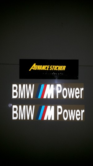 (stiker) sticker mobil bmw power