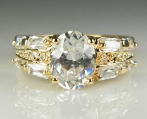 harga CINCIN WANITA 18K Yellow Gold Filled White Sapphire Women's Tokopedia.com