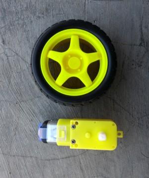 Motor Gearbox Kuning 6V + Roda