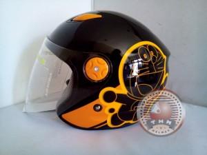 Helm BMC Milan Doraemon Retro ( Black/Orange, Size L)