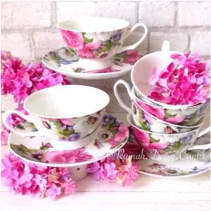 harga Teacup / Teaset / Cangkir Set Gardenia Tokopedia.com