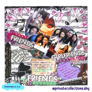 scrapframe combine with mozaic photos for bday gift