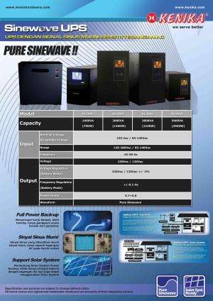 Pure Sinewave UPS Single Phase KC Series 2000 VA