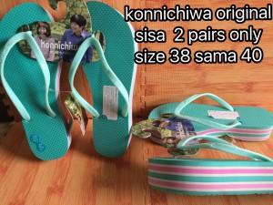 harga konnichiwa jepang murahwedges platform sendal sandal jepit Tokopedia.com