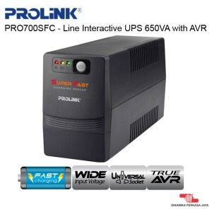 UPS PROLINK PRO700SFC - Line Interactive UPS 650VA with AVR