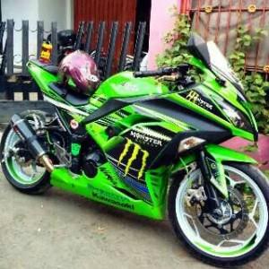 kumpulan modifikasi ninja 250 fi warna hijau