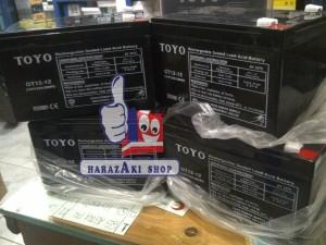TOYO 12v - 12ah (Aki mobil & motor mainan)