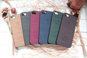 WOOD CASE FOR IPHONE 4/S, 5/S (SEMI HARDCASE)