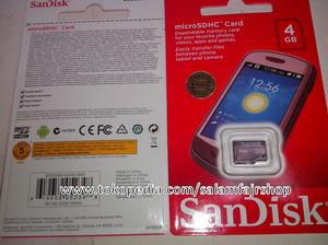Kartu Memori microSDHC Sandisk 4GB