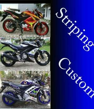 Striping custom new vixion + Half fairing
