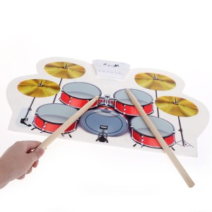 harga USB MIDI Drum Kit PC Desktop Roll up Electronic Drum Pad Portable 1 Tokopedia.com