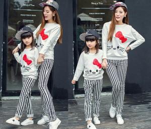 Jual Baju Setelan Couple Ibu Dan Anak Perempuan Hello