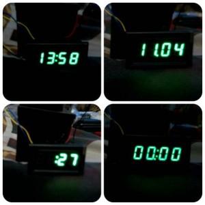 harga jam digital 12v untuk motor dan mobil. Waterpoof! Tokopedia.com