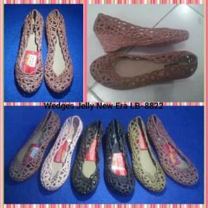 harga Sepatu Wedges Jelly New Era LB-8822 Tinggi 5 cm Tokopedia.com