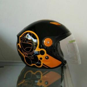 helm BMC Milan doraemon retro oranye