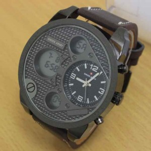 Jam Tangan Swiss Army Dual Time Leather Strap