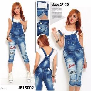 harga Celana monyet jeans wanita jumpsuit overall wearpack blue denim Aurnel Tokopedia.com