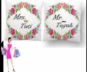 harga bantal  couple custom nama Tokopedia.com