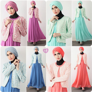 harga Sabila Maxi + Blazer 125rb matt dress cindy ceruty plus blazer waffle Tokopedia.com