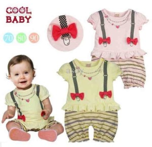 Romper Baby Girl Suspender Pita (Brand: Cool Baby)