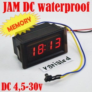 Jam Digital DC Mini Clock Watch Motor & Mobil 4.5-30V Waterproof MERAH
