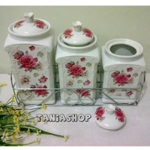harga set toples keramik, shabby Tokopedia.com