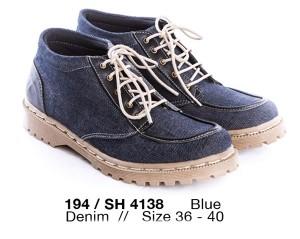 harga sepatu boots perempuan bahan denim sepatu boots wanita bagus murah Tokopedia.com