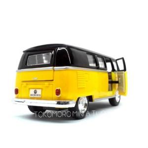 VW Kombi classical bus kuning hitam miniatur diecast mobil