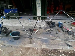 Tenda Double ukuran 3x6 Full Barcob Tenda Cafe / Jualan