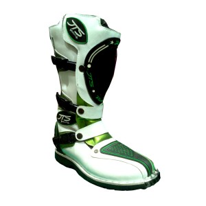 Sepatu Boots JTS WhiteBlackGreen /Motor Cross/Offroad/Adventure/Kulit
