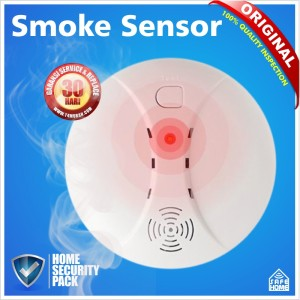 WIRELESS SMOKE DETECTOR, ALARM PENDETEKSI ASAP, MURAH