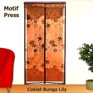 harga Lotus [P] Press - Coklat Bunga Lily - Tirai Pintu Magnet Anti Nyamuk Tokopedia.com