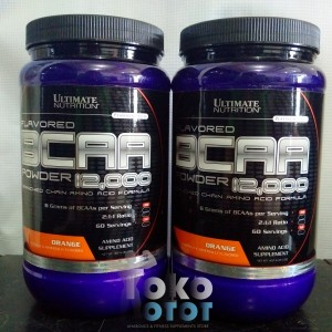 BCAA 12000 Powder FLAVORED 457gr ULTIMATE NUTRITION