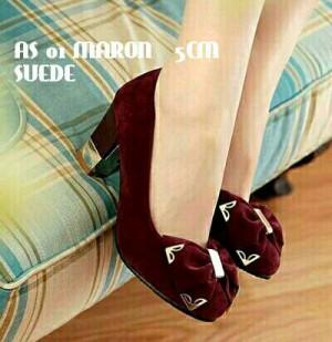 harga maroon heels pump shoes Tokopedia.com