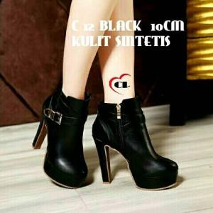 harga pump shoes black heels Tokopedia.com