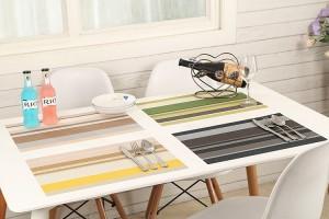 Alas Makan / Alas Piring / Table Mat PVC Anti slip Stripe