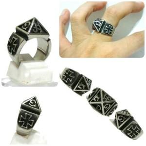 SportRockShop Ring Cincin Titanium Import PIRAMID