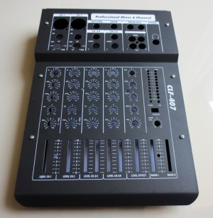 Box Profesional 6 Channel Audio Mixer