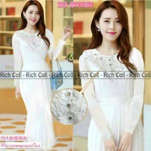 harga Dress white clara maxi Tokopedia.com